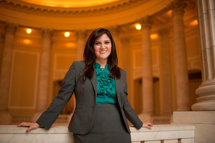 UNITED STATES - OCTOBER 12:  Laura Sisemore is photographed in Cannon rotunda.  (Photo By Tom Williams/Roll Call)