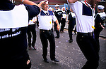 'GAYFEST MANCHESTER, UK', 'THE PRAIRIE DOGS' A GAY LINE DANCE TEAM, DANCING IN THE STREETS 'THEY DO IT WITH A SMILE',