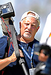 13 March 2007: Chief Photographer for MLB Photos Rich Pilling prepares to shoot a game between the Los Angeles Dodgers and the Detroit Tigers at Holman Stadium in Vero Beach, Florida.<br /> <br /> Mandatory Photo Credit: Ed Wolfstein Photo