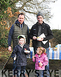 NCW Coursing 1<br /> William and Amy Costello ( on left) Ardfert and James O' Connor Lyrecrompane and reporter with Radio Kerry with his daughter Mollie.
