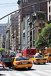 street scene on 5th avenue in New york City in October 2008