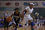 Sophomore guard, Bria Goss (right), guarding agains senior guard, Erin Reynolds (right), during the second half of the UK vs. High Point basketball game at Memorial Coliseum on Saturday, Nov. 17, 2012. Photo by Adam Chaffins | Staff