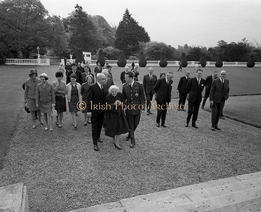 Belgian Royals King Baudouin and Queen Fabiola at Áras an Uachtarain..17.05.1968