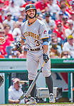 21 June 2015: Pittsburgh Pirates infielder Sean Rodriguez at bat against the Washington Nationals at Nationals Park in Washington, DC. The Nationals defeated the Pirates 9-2 to sweep their 3-game weekend series, and improve their record to 37-33. Mandatory Credit: Ed Wolfstein Photo *** RAW (NEF) Image File Available ***