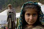 Following an October 8, 2005, earthquake, displaced persons living in a camp outside Balakot sponsored by Action by Churches Together. The quake, which measured 7.6 on the Richter scale, killed more than 74,000 people in northern Pakistan.