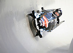 15 December 2007: USA 3 pilot Grayson Fertig with brakeman Charles Berkeley exit a turn during their first run at the FIBT World Cup Bobsled Competition at the Olympic Sports Complex on Mount Van Hoevenberg, at Lake Placid, New York, USA. ..Mandatory Photo Credit: Ed Wolfstein Photo