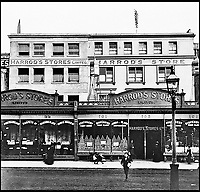 BNPS.co.uk (01202 558833)<br /> Pic: Harrods/BNPS<br /> <br /> Harrods frontage in late 1890s.<br /> <br /> Harrods was almost shut down in the 1830s long before it became a worldwide name because of its founder's criminal dealings, a new book has revealed.<br /> <br /> In The Jewel of Knightsbridge, The Origins of the Harrods Empire, author Robin Harrod discovered his great great grandfather, Harrods founder Charles Henry Harrod, was on the brink of being deported to Australia for handling stolen goods in 1836.<br /> <br /> He was only saved from his sentence of seven years transportation (deportation) by a petition on his behalf which vowed he would turn his back on crime.<br /> <br /> The Jewel of Knightsbridge: The Origins of The Harrods Empire by Robin Harrod, published by The History Press, costs &pound;20 and will be released on February 13.