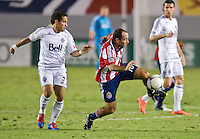 CARSON, CA - July 7, 2012: Vancouver Whitecaps forward Camilo (37) and and Chivas USA midfielder Nick LaBrocca (10) during the Chivas USA vs Vancouver Whitecaps FC match at the Home Depot Center in Carson, California. Final score Vancouver Whitecaps FC 0, Chivas USA 0.