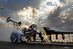 Jan. 18, 2012; Jupiter, FL, USA: NHRA top fuel dragster driver Tony Schumacher during testing at the PRO Winter Warmup at Palm Beach International Raceway. Mandatory Credit: Mark J. Rebilas-