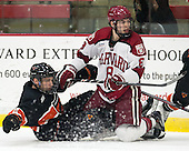 Alec Rush (Princeton - 2), Patrick McNally (Harvard - 8) - The Harvard University Crimson defeated the Princeton University Tigers 3-2 on Friday, January 31, 2014, at the Bright-Landry Hockey Center in Cambridge, Massachusetts.