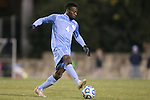 25 November 2012: UNC's Boyd Okwuonu. The University of North Carolina Tar Heels played the Farleigh Dickinson Knights at Fetzer Field in Chapel Hill, North Carolina in a 2012 NCAA Division I Men's Soccer Tournament third round game. UNC won the game 1-0 in overtime.