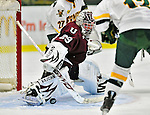 9 October 2009: Union Dutchwomen goaltender Alana Marcinko, a Freshman from Altoona, PA, makes a first period save against the University of Vermont Catamounts at Gutterson Fieldhouse in Burlington, Vermont. The Catamounts shut out the visiting Dutchwomen 2-0 to start off the Cats' 2009 season. Mandatory Credit: Ed Wolfstein Photo