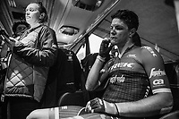 Jasper Stuyven (BEL/Trek-Segafredo) back on the teambus after finishing his first Primavera<br /> <br /> 108th Milano - Sanremo 2017