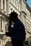 Civil Servants, outside The Foreign Office, King Charles Street Whitehall London UK