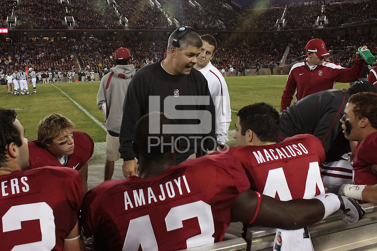STANFORD, CA - NOVEMBER 21:  Andy Buh of the Stanford Cardinal during Stanford's 34-28 loss to the California Golden Bears in112th Big Game on November 21, 2009 at Stanford Stadium in Stanford, California.