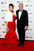 Julie Chen and Les Moonves arrive for the formal Artist's Dinner honoring the recipients of the 39th Annual Kennedy Center Honors hosted by United States Secretary of State John F. Kerry at the U.S. Department of State in Washington, D.C. on Saturday, December 3, 2016. The 2016 honorees are: Argentine pianist Martha Argerich; rock band the Eagles; screen and stage actor Al Pacino; gospel and blues singer Mavis Staples; and musician James Taylor.<br /> Credit: Ron Sachs / Pool via CNP