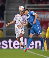 Fussball 1. Bundesliga 2012/2013: Relegation  Bundesliga / 2. Liga  TSG 1899 Hoffenheim  - 1. FC Kaiserslautern          23.05.2013 Chris Loewe (li, Kaiserslautern) gegen Kevin Volland (re, TSG 1899 Hoffenheim)