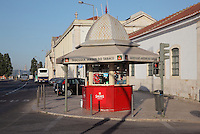Tobacconist kiosk on a street in Alfama, the oldest district in the city and the original Moorish area, Lisbon, Portugal. Picture by Manuel Cohen