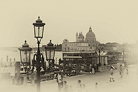 A venice scene in an antique style