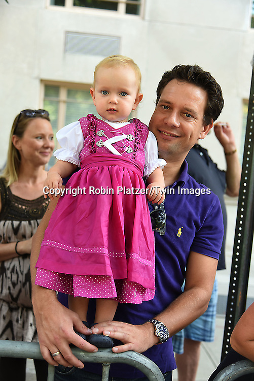 Josephine and Jens Thiede, who are German, attend the 59th German-American Steuben Parade on September 17, 2016 on Fifth Avenue in New York City, New York, USA. <br /> <br /> photo by Robin Platzer/Twin Images<br />  <br /> phone number 212-935-0770