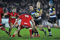 Adam Hastings of Bath United in possession. Aviva A-League match, between Bath United and Bristol United on December 28, 2015 at the Recreation Ground in Bath, England. Photo by: Patrick Khachfe / Onside Images