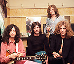 Led Zeppelin 1969 Jimmy Page, John Bonham, John Paul Jones and Robert Plant at the Lyceum..© Chris Walter.Extra Large Scan