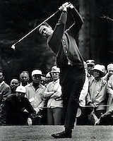Tony Lema tees off during the 1966 U.S. Open golf .tournament at the Olympic Club in San Francisco..(photo copyright 1966 Ron Riesterer)