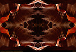 Fractal Thunderbird, Fractal Composite, Upper Antelope Canyon, Tse-Bighanilini, Slot Canyon, Lake Powell Navajo Tribal Park, Page, Arizona