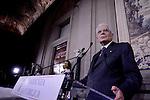 Quirinale, Sergio  Mattarella al termine delle Consultazioni