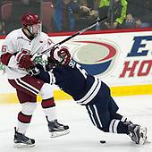 Ryan Donato (Harvard - 16), Billy Sweezey (Yale - 6) - The Harvard University Crimson tied the visiting Yale University Bulldogs 1-1 on Saturday, January 21, 2017, at the Bright-Landry Hockey Center in Boston, Massachusetts.