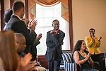 Dr. Jacob Okumu receives applause for his work on behalf of the Ohio Reach Initative. Photo by Ben Siegel/ © Ohio University
