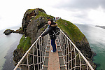 Allison on the Carrick-a-Rede Rope Bridge in Ballintoy, County Antrim, Northern Ireland on Saturday, June 22nd 2013. (Photo by Brian Garfinkel)