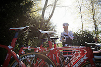 Riccardo Zoidl (AUT/Trek-Segafredo) before the  first pre-Giro training ride with Team Trek-Segafredo in Gelderland (The Netherlands)<br /> <br /> 99th Giro d'Italia 2016