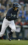 .Seattle Mariners' Ichiro Suzuki tries to beat out a grounder hit against the  Detroit Tigers with bases loaded in the third inning at Safeco Field, Friday April 21, 2006 in Seattle. Ichiro was thrown out at first by the catcher Vance Wilson ending the inning. Jim Bryant/ P.I. Photo.Jim Bryant Photo. ©2010. ALL RIGHTS RESERVED.