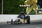 May 5, 2012; Commerce, GA, USA: NHRA top fuel dragster driver Tony Schumacher during qualifying for the Southern Nationals at Atlanta Dragway. Mandatory Credit: Mark J. Rebilas-
