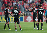 05 May 2012: D.C. United midfielder Dwayne De Rosario #7 talks to his players during an MLS game between DC United and Toronto FC at BMO Field in Toronto..D.C. United won 2-0.