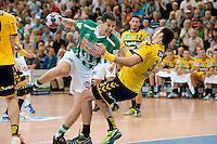 Bojan Beljanski (FAG) im Wurf gegen rechts Gedeon Guardiola (RNL)