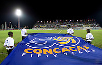 CONCACAF flag. The United States played Jamaica during the CONCACAF Men's Under 17 Championship at Catherine Hall Stadium in Montego Bay, Jamaica.