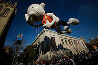 The Greg Heffley from Diary of a Wimpy Kid balloon floats through the parade route during the 89th Macy's Thanksgiving Annual Day Parade in the Manhattan borough of New York.  11/26/2015. Eduardo MunozAlvarez/VIEWpress