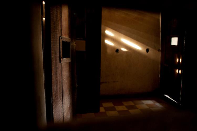 Prison cells at the Toul Sleng Genocide Museum in Phnom Penh, Cambodia. <br /> <br /> Photos &copy; Dennis Drenner 2013.