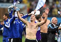 FUSSBALL WM 2014                HALBFINALE Niederlande - Argentinien       09.07.2014 Maxi Rodriguez (Argentinien) jubelt ueber den Einzug ins Finale