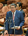 February 3, 2012, Tokyo, Japan - Japans Defense Minister Naoki Tanaka speaks during a Diet lower house Budget Committee meeting in Tokyo on Friday, February 3, 2012. Tanaka was caught in a crossfire from the opposition camp when a senior Defense Ministry official has come under fire for encouraging his subordinates to vote in the upcoming mayoral election in Ginowan, Okinawa Prefecture, which hosts the U.S. Marine Corps' Air Station in Futennma. (Photo by Natsuki Sakai/AFLO) AYF -mis-