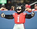 Rebel the Bear mascot Ole Miss vs. Arkansas at Vaught-Hemingway Stadium in Oxford, Miss. on Saturday, October 22, 2011. .