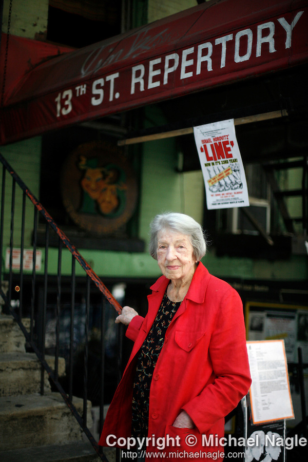 NEW YORK -- JUNE 8: Edith O'Hara poses for a portrait outside the 13th Street Repertory Company Theater on June 8, 2007 in New York City.  (Photo by Michael Nagle)