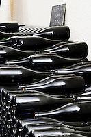 Bottles aging in the cellar. Exception Blanc 2004. Domaine Pascal Jolivet, Sancerre, Loire, France