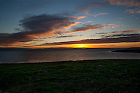 Sunset, from the East Bay shoreline along San Francisco Bay.