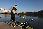 BAGHDAD, IRAQ: Haider Nawzad prepares his boat before rowing...Iraq is fielding a rowing team for the London 2012 Olympics...Photo by Kamaran Najm/Metrography
