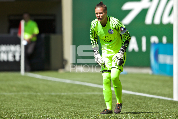 Portland, OR - Saturday April 15, 2017: g during a regular season National Women's Soccer League (NWSL) match between the Portland Thorns FC and the Orlando Pride at Providence Park.