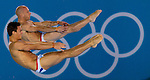 Mcc0041438 . Daily Telegraph..DT Sport.2012 Olympics..Tom Daley and Peter Waterfield competing in the 10 meter Diving Finals i which they came fourth with a non medal position..30 July 2012...