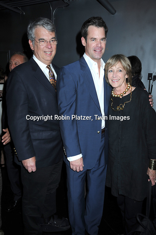 """Tuc Watkins and his father Curt Watkins,mother Mary at The opening night of """"White's Lies"""" on May 6, 2010 at New World Stages in New York City. The show stars Betty Buckley, Tuc Watkins, Peter Scolari and Christy Carlson Romano."""